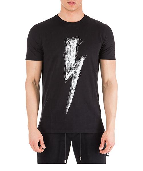 T-shirt Neil Barrett Thunderbolt PBJT477BL534S 524 nero