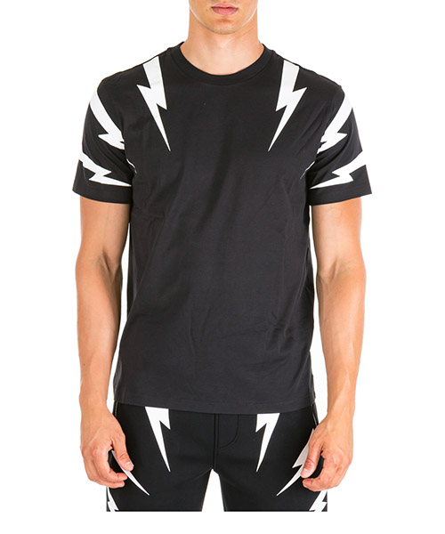 T-shirt Neil Barrett Tiger bolt PBJT553SM508S 524 black / white