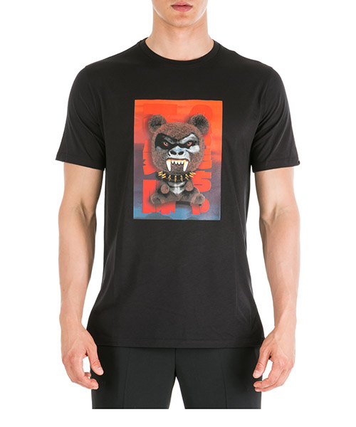 T-shirt Neil Barrett Fetish bear.03 PBJT582SM525S 1076 black / red