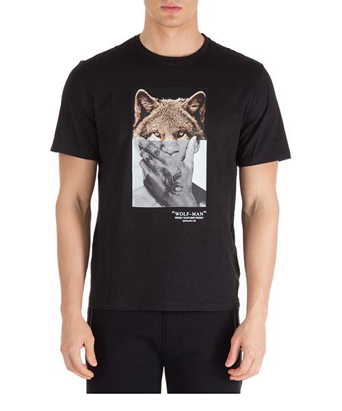 T-shirt Neil Barrett wolf-man pbjt689sn534s 1874 nero