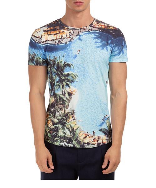 T-shirt Orlebar Brown ob-t photographic 270176 blu