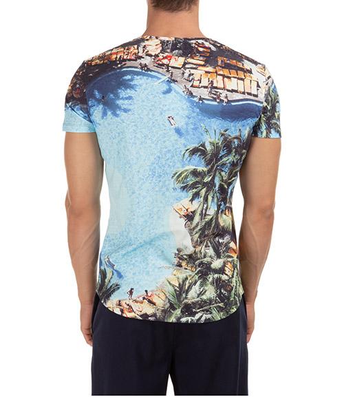 Herren t-shirt kurzarm kurzarmshirt runder kragen ob-t photographic secondary image