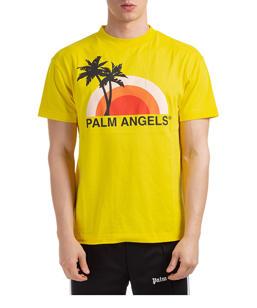 T-shirt Palm Angels sunset pmaa001s204130166088 giallo
