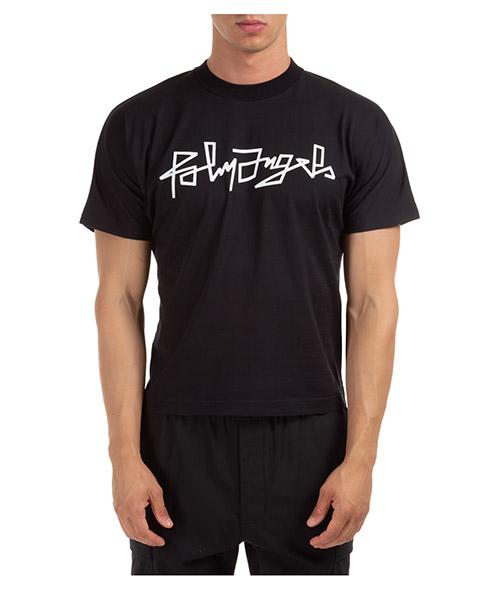 T-shirt Palm Angels Desert PMAA058F20JER0011001 nero