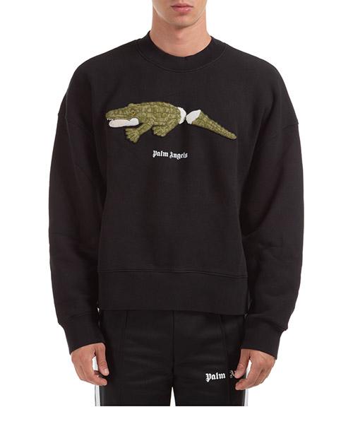 Sweatshirt Palm Angels Crocodile PMBA026E20FLE0081055 black / green