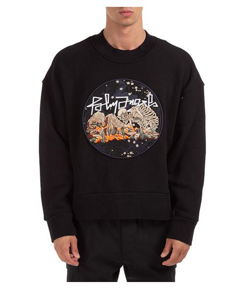 Sweatshirt Palm Angels Desert PMBA026F20FLE0081084 nero