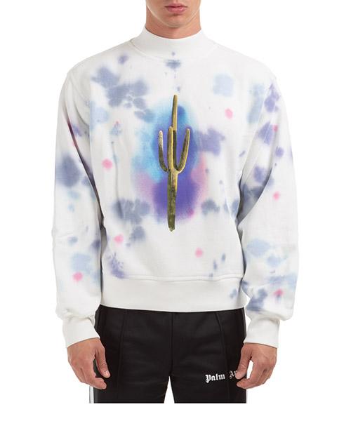 Sweatshirt Palm Angels Cactus PMBA043E20FLE0030155 bianco