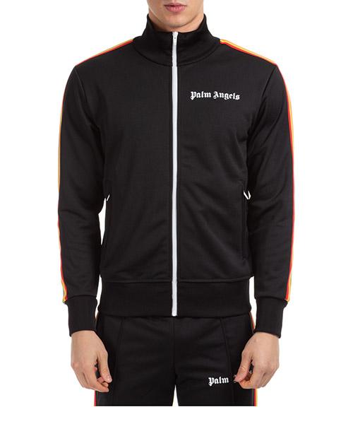 Sweatshirt mit Zip Palm Angels pmbd001r203840021088 nero