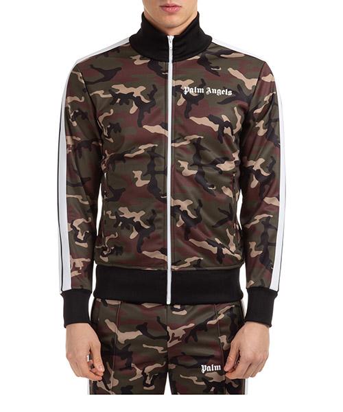 Sweatshirt mit Zip Palm Angels pmbd001r203880019901 verde