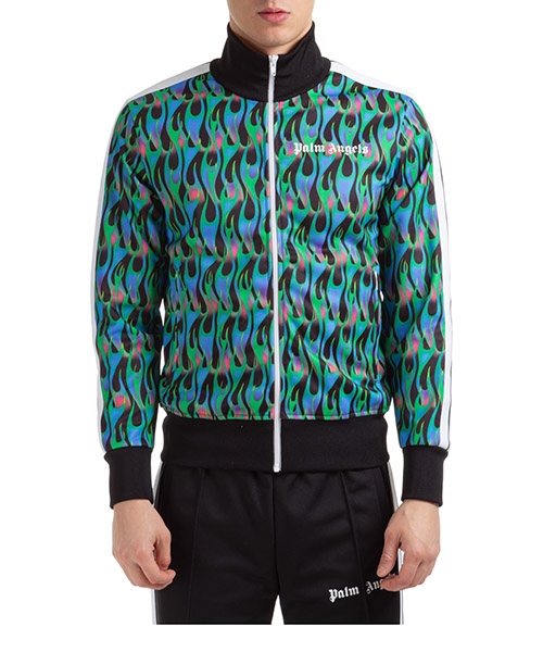 Sweatshirt mit Zip Palm Angels burning track pmbd001s203840461031 blu