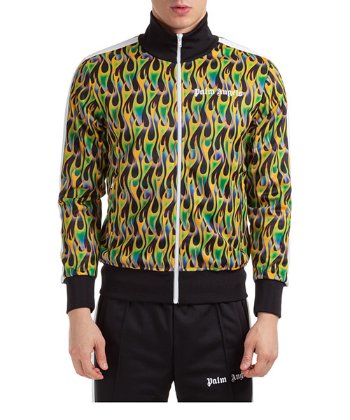 Sweatshirt mit Zip Palm Angels burning track pmbd001s203840461040 verde