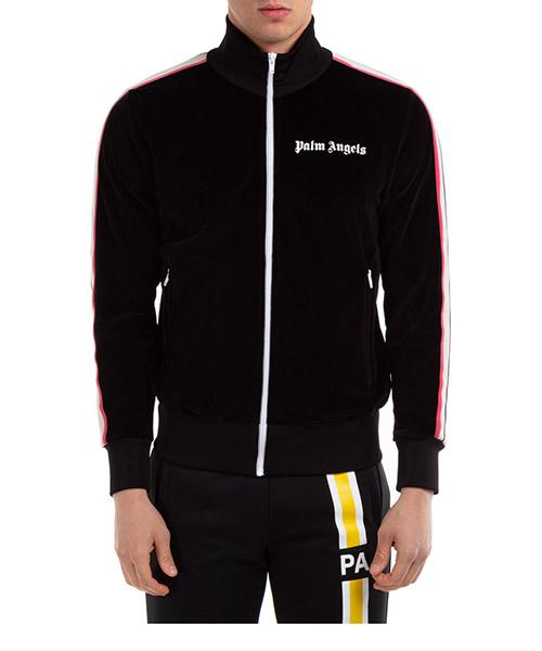 Sweatshirt mit Zip Palm Angels handmade tie dye tape pmbd001s204690231088 nero