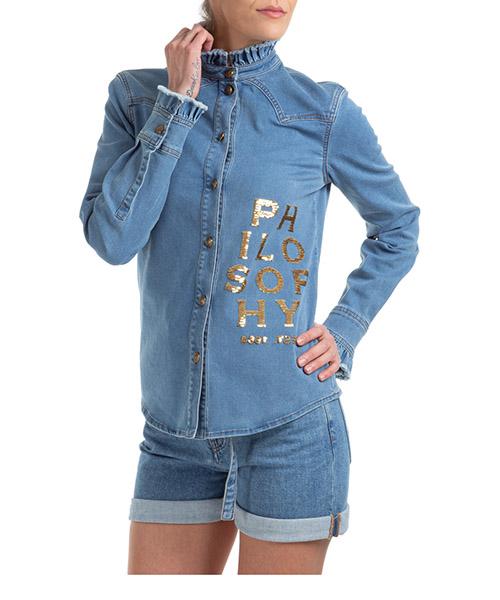 Shirt Philosophy di Lorenzo Serafini A023107380300 blu