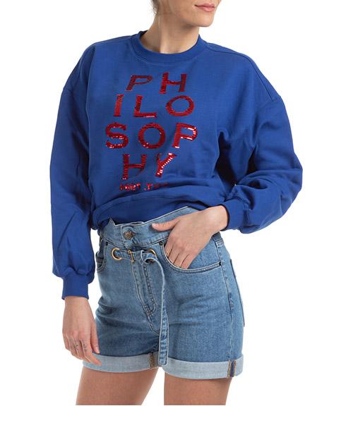 Sweatshirt Philosophy di Lorenzo Serafini a171007470300 blu