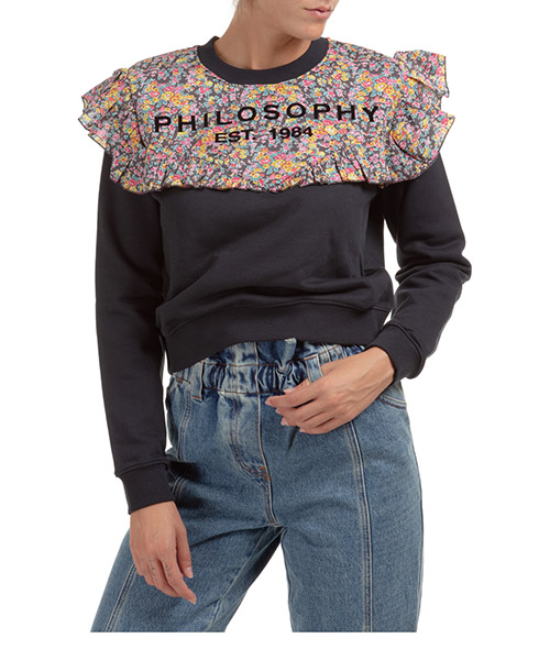 Sweatshirt Philosophy di Lorenzo Serafini j170357470509 nero