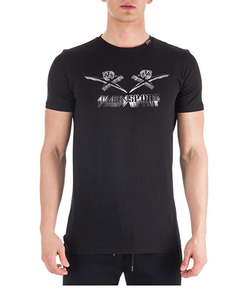Camiseta Plein Sport A18C-MTK2739-SJY001N black - silver