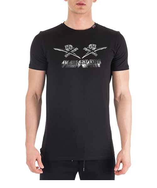 T-shirt Plein Sport A18C-MTK2739-SJY001N black - silver