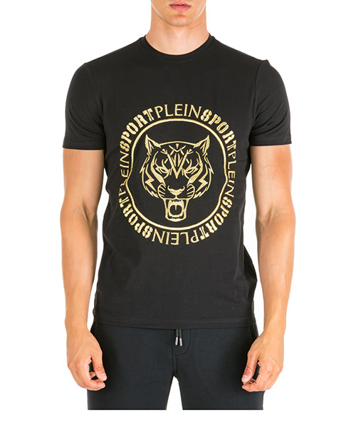 T-shirt Plein Sport SS Tiger A19C MTK4170 SJY001N black / gold