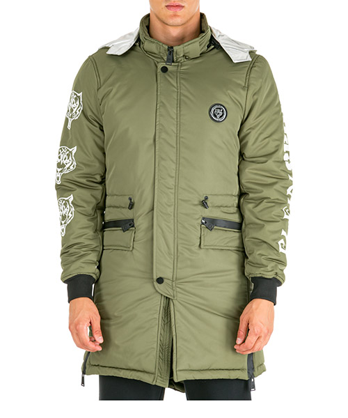 Men's outerwear jacket blouson hood tiger secondary image
