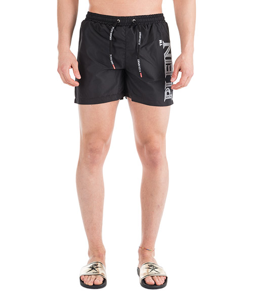 Swimming trunks Plein Sport S19C MMT_0109 STE003N black - white