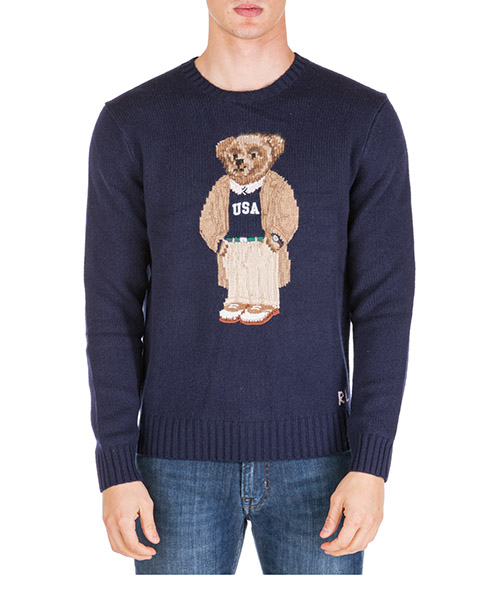 Jumper Polo Ralph Lauren bear 710766111001 blu