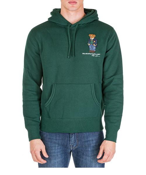 Sudadera con capucha Polo Ralph Lauren bear 710766807004 verde