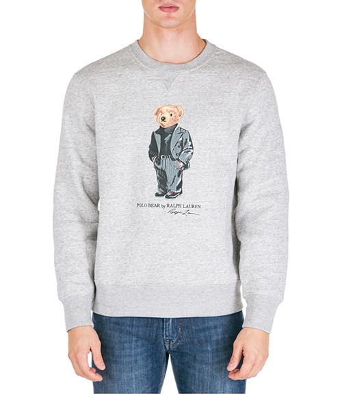 Felpa Polo Ralph Lauren bear 710766808002 grigio