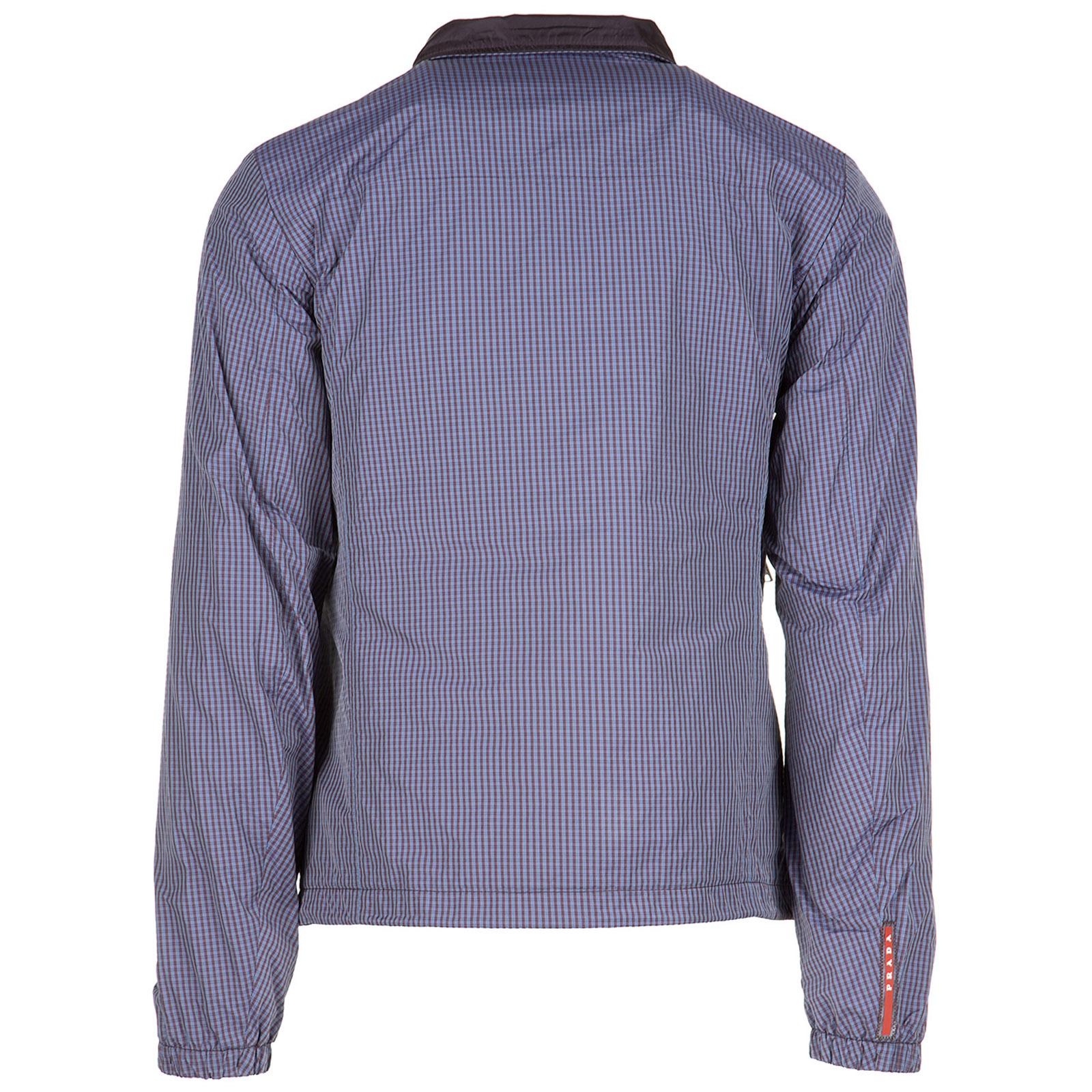 Men's nylon outerwear jacket blouson reversibile