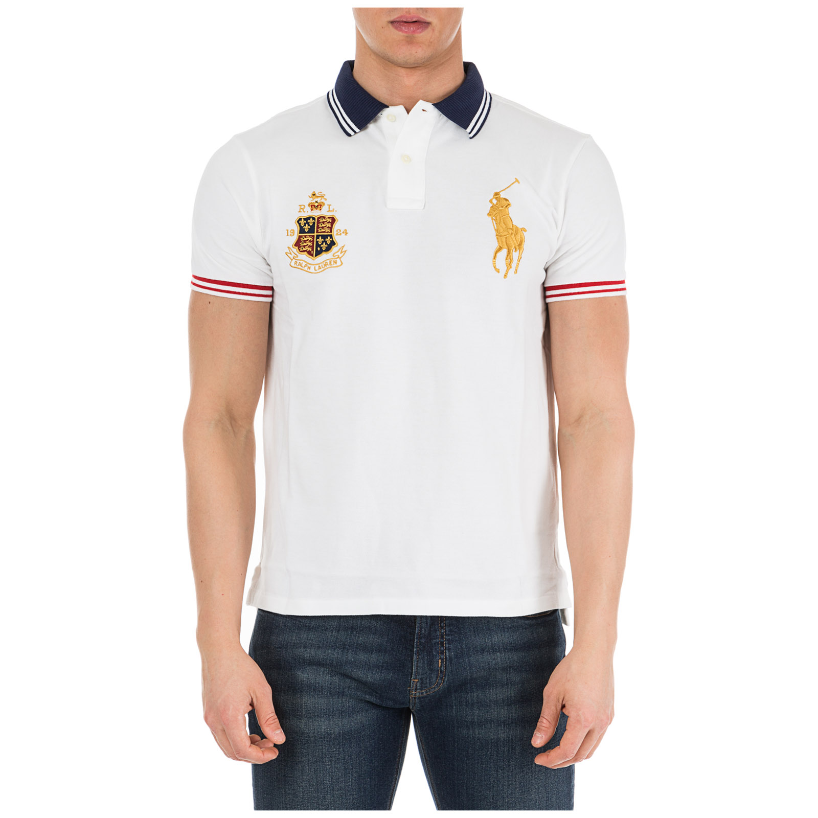 de8b3ca2bf2d Men's short sleeve t-shirt polo collar custom slim-fit ...