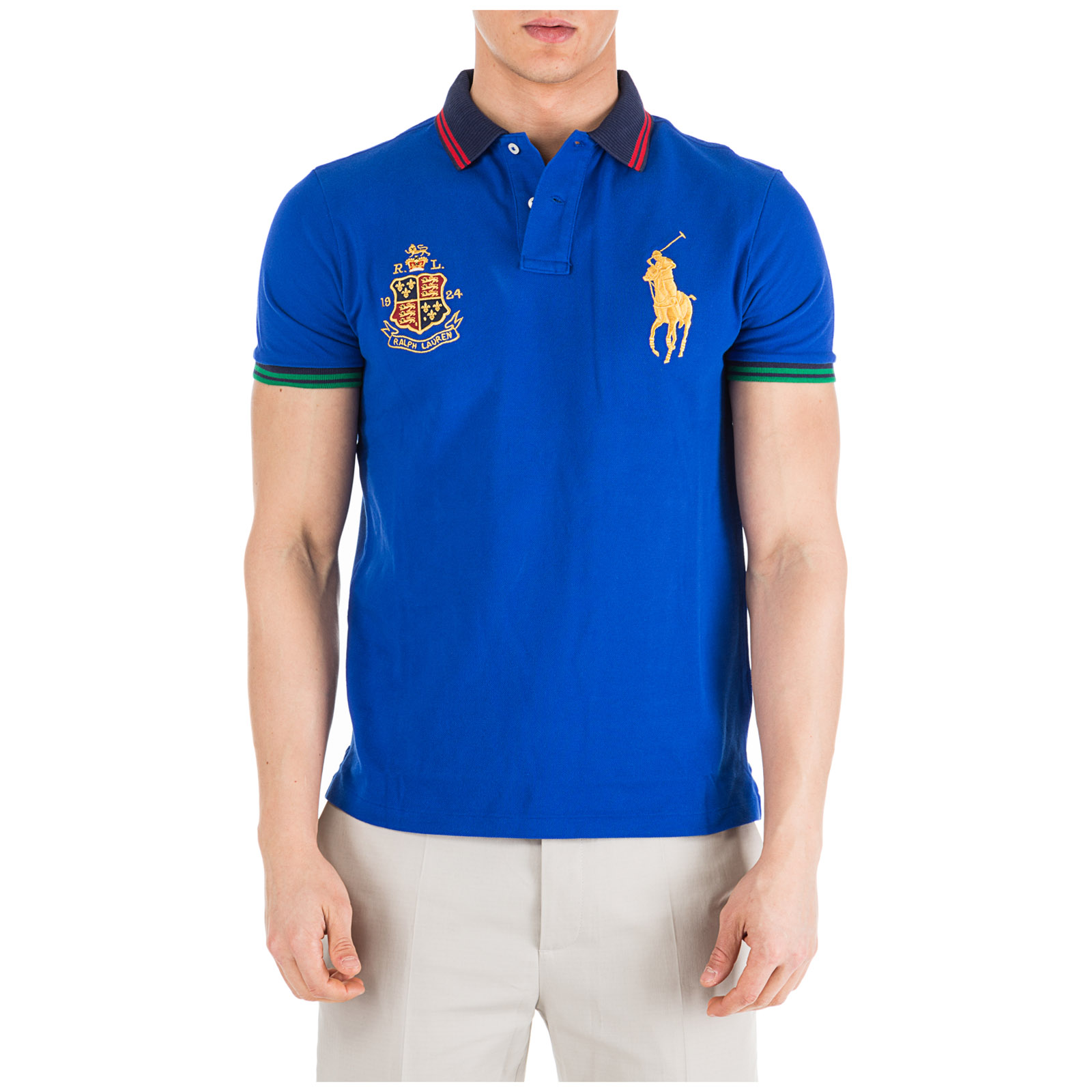 f77d3c447 Men's short sleeve t-shirt polo collar custom slim-fit ...