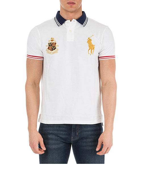 Men's short sleeve t-shirt polo collar custom slim-fit