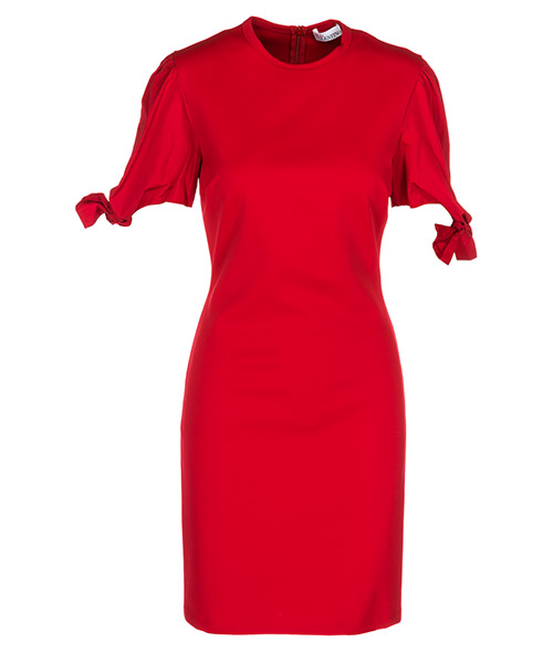 Knielänge Kleid Red Valentino QR3MJ08Q407 C61 cherry