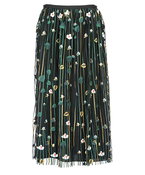 Skirt Red Valentino QR3RA03C3UG 0NO nero