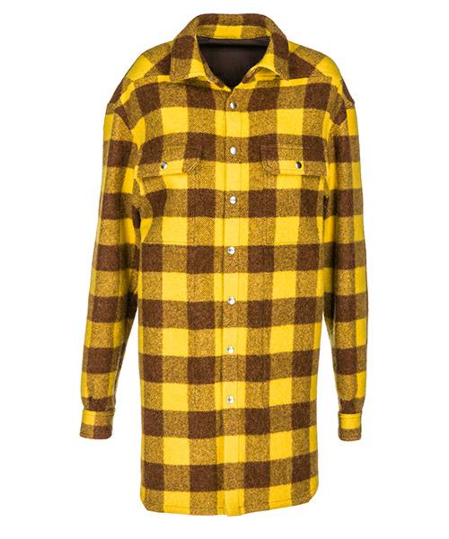 Cappotto Rick Owens RO18F4758WJP44A giallo