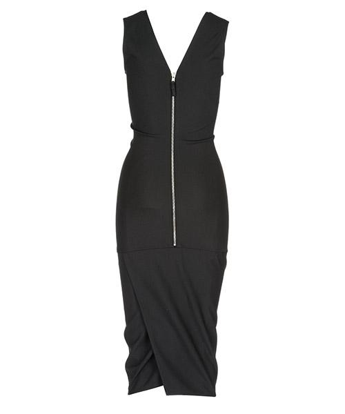 Vestito abito donna lungo longuette senza maniche secondary image