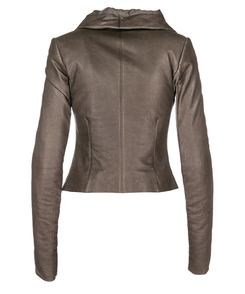 Women's leather outerwear jacket blouson secondary image