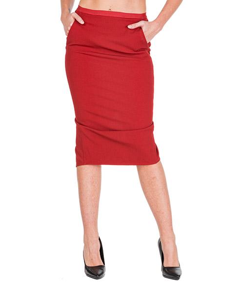 Skirt Rick Owens RP19F5339GG133 rosso