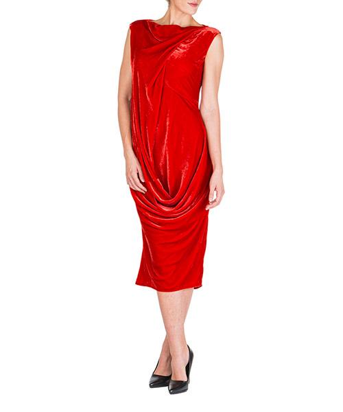 Vestito al ginocchio Rick Owens ellipse rp19f5572v133 rosso