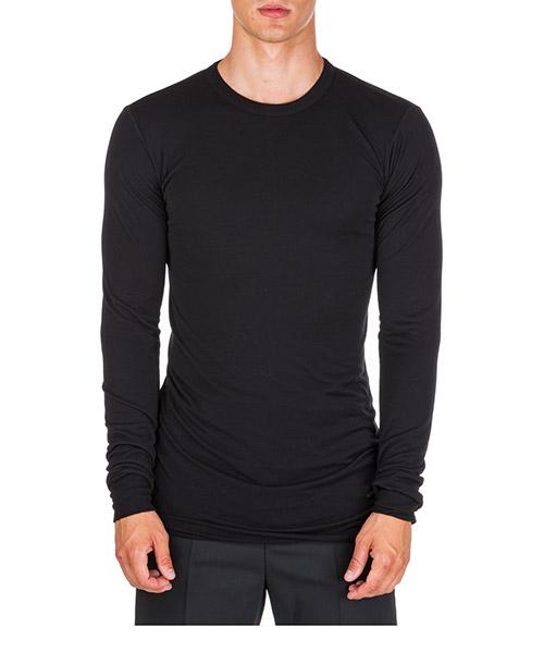 T-shirt manica lunga Rick Owens ru19f4257js09 nero