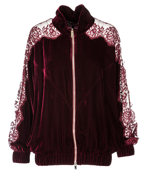 Zip sweatshirt  Stella Mccartney Lily 522275SJB246106 bordeaux