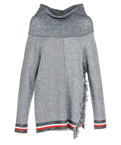 Turtle neck sweater  Stella Mccartney 526687S18898490 grigio/avorio/rosso