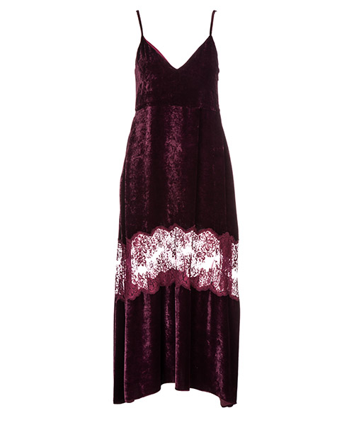 Knielänge Kleid Stella Mccartney 531107SJB876106 bordeaux