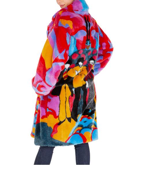 Ecopelliccia Stella Mccartney fur free fur 567073snb718486 rosso