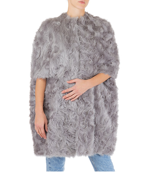 Manteau fausse fourrure Stella Mccartney Fur Free Fur 581669SMB021406 grigio