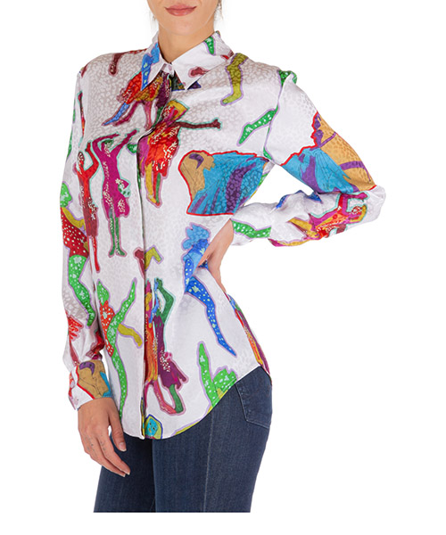 Camicia Stella Mccartney all together now 582391sna388486 bianco