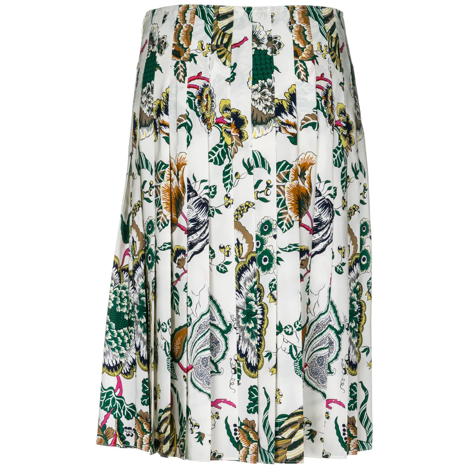 Women's skirt knee length midi carmine