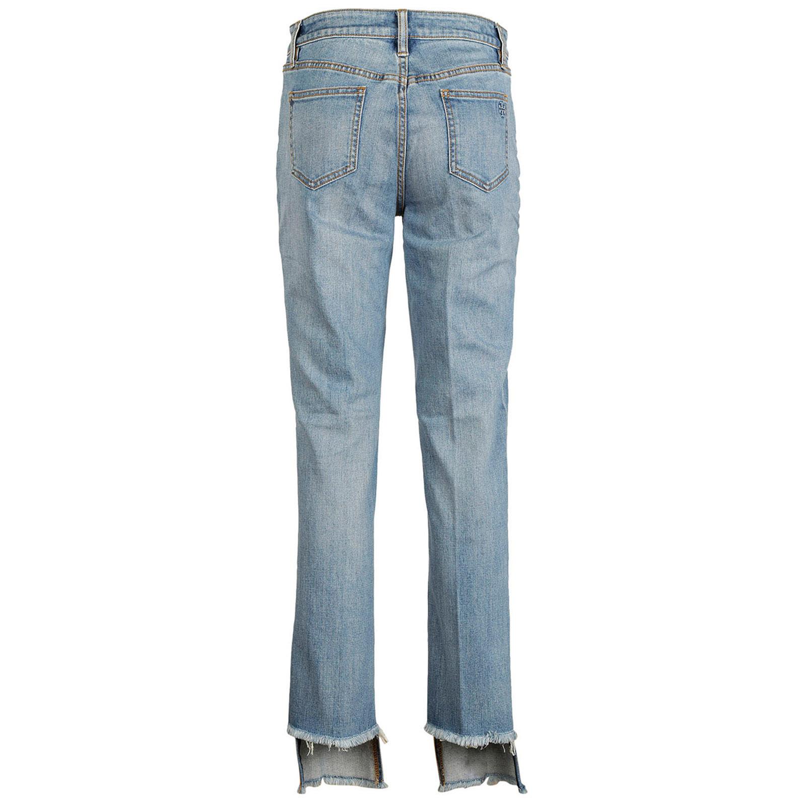 Damen gerade strechthose jeans