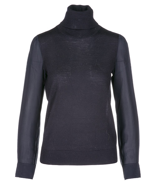 Turtle neck sweater  Tory Burch Liz 50173411 medium navy