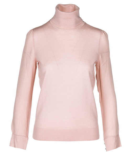 Turtleneck sweater  Tory Burch Liz 50173693 rosa