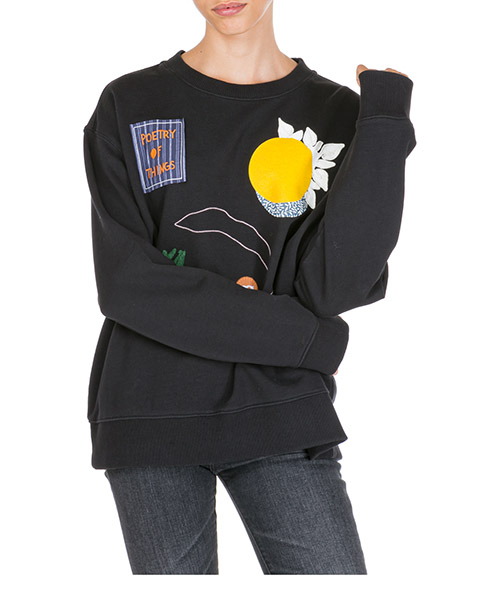 Sweatshirt Tory Burch 56565 001 nero